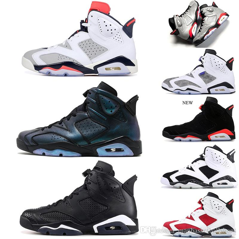 reputable site 0d7e0 51bd3 6 6s tinker hatfield Basketball Shoes for men all sta black cat CNY JSP  Reflective Silver 6s Sports Shoes Sneakers US 7-13