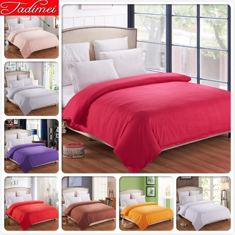 1 piece Duvet Cover Plain Pure Color Quilt Bedding Bag Adult Kids Girl Soft Cotton Single Twin Full Queen King Size Rose 150x200