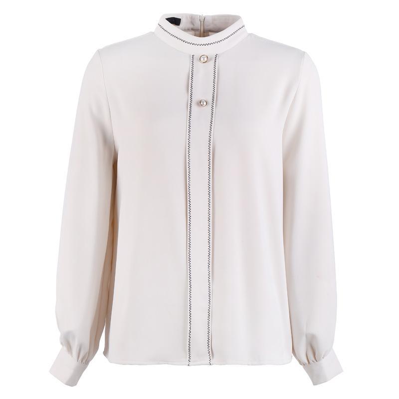 eaaad7563 2019 nuevas camisas de mujer de primavera camisa blusa delgada de ladrillo  rojo metros albaricoque 8812