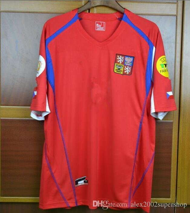 best website 2f121 324f4 BEST thai Rugby 04 Czech Republic Retro Jerseys Pavel Nedved Champions Mens  Shirts 2004 Czech Vintage Uniforms