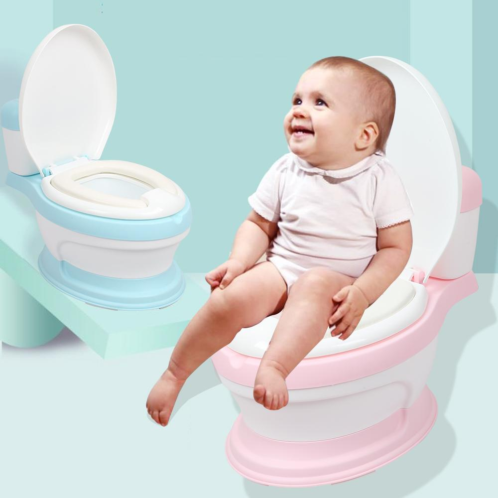 43a2e42f343 2019 Children Simulation Mini Toilet Infant Pony Bucket Potty Seat Portable Toilet  Training Urinal Potties Ergonomic Backrest Design From Babigarden