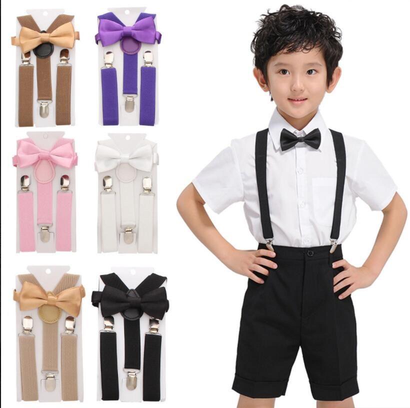 790f162a1ab 2019 Kid Suspender Adjustable Elastic Braces Baby Suspenders Set Bow Tie +  NeckTie Baby Trousers Accessories Suspenders KKA6524 From  Liangjingjing socks