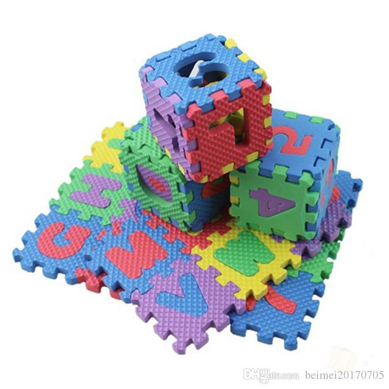 6d806665f37 Compre 36 Unids   Set Niños Alfabeto Letras Números Puzzle Colorido Alfombra  Para Niños Alfombra De Juego Suelo Suave Rastreo Rompecabezas Niños  Juguetes ...