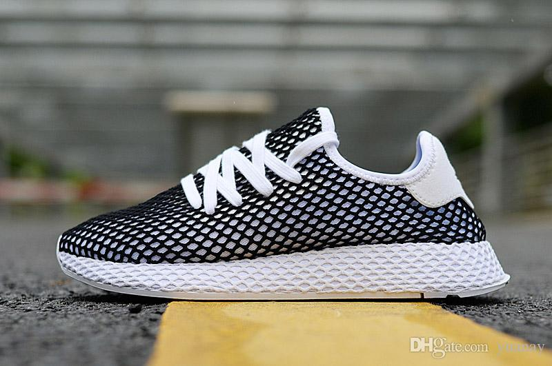 1f750e39d New Top Fashion Originals Deerupt Runner Women Men Black Red White ...