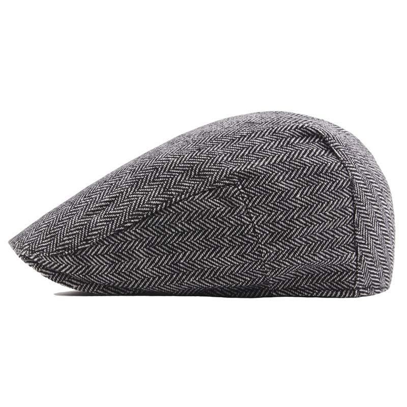 240e6c6b7863 2019 Wool Blend Classic Tweed Beret Hat For Men Ivy Driving Caps Stylish Flat  Cap Size 58cm Dark Grey Khaki From Nicewatchnice, $35.32 | DHgate.Com