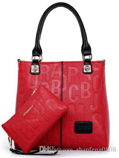 603c2fc83a3f New Fashion Women S Two Piece Leather Bag European Famous Designer Handbag  Shoulder Bag Classic Simple Messenger Bag Wholesale Laptop Bags Leather  Backpack ...