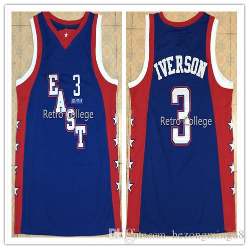94941a68b00 2019 2019 New High Quality ALLEN 3 IVERSON 2004 East All Star Mens  Basketball Jersey Custom Any Name And Number All Size Xxs 6xl From  Hezongming88, ...