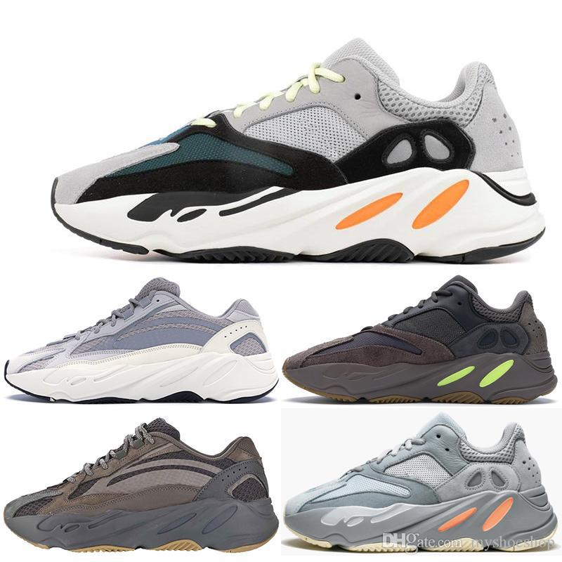 18d490d1840d5 Serafini Scarpe 2019 700 Wave Runner Mauve Kanye West Boost Wave Scarpe  Statiche Uomo Donna Nero Bianco Blu Grigio Sports Designer Atletica Sneaker  ...