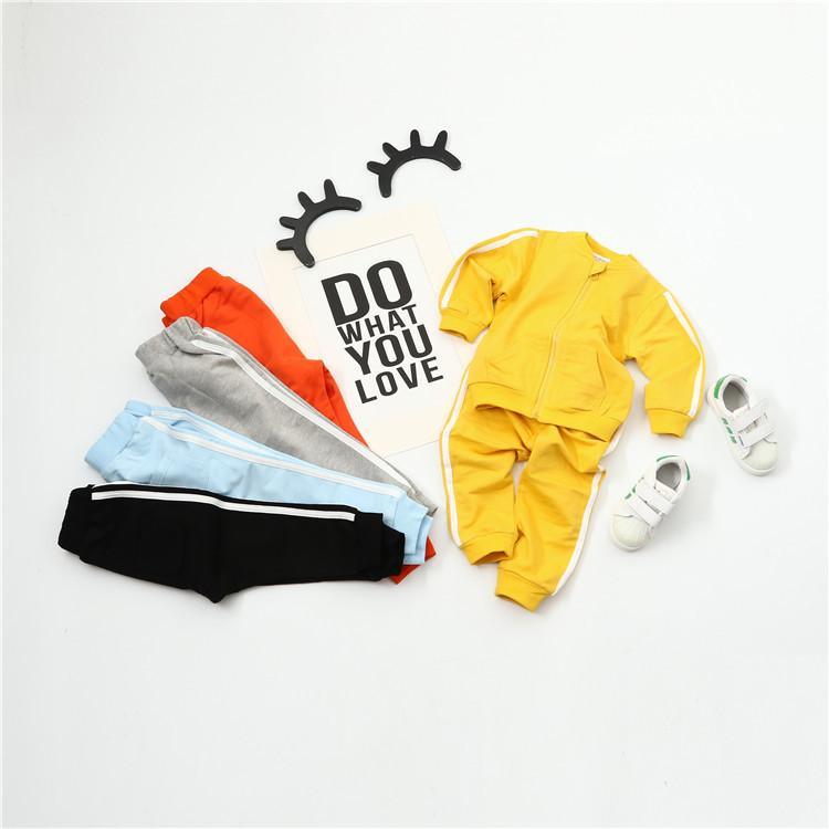 e7a33bc29 Compre Ropa Para Niños Boy 2019 Baby Boys Otoño Sudaderas Con Capucha  Abrigos Y Chaquetas Pantalones Conjunto Moda Coreana Ropa De Niños Traje  Deportivo ...