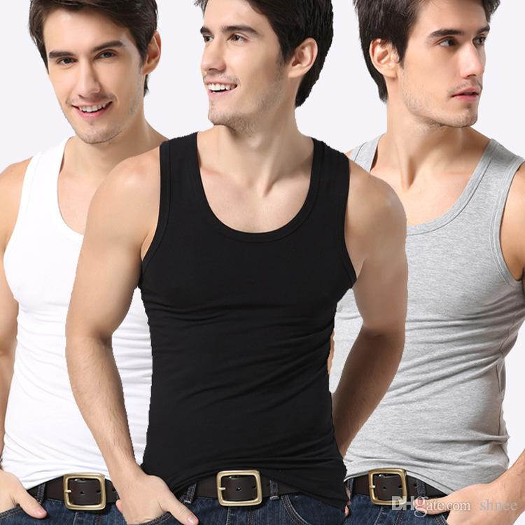 mens Modal vest tanks Summer Cotton Slim Fit Men Underwear Clothing Bodybuilding Undershirt Golds Fitness tops tees lifting vest