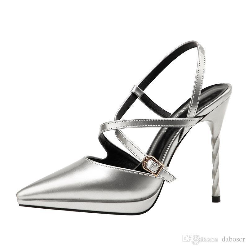 e81c6625 Compre Zapatos Blancos De Encaje Nupcial, Zapatos Con Hebilla, Tacón  Delgado, Tacones Altos, Discoteca Con Cinturón Y Sandalias Delgadas De Tacón  Zapatos ...
