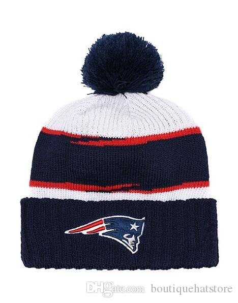 2019 New Baseball Brand Women S Winter Warm Beanies With Pom Fashion Street  Out Door Wool Patriots Cuffed Knit Hat Men S Skull Knitted Caps UK 2019  From ... 5ff76a07ad0d