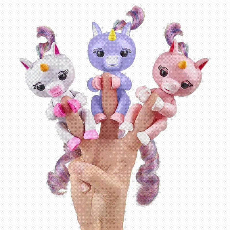 2018 New Finger Interactive Baby Unicorn Mini Interactive Finger