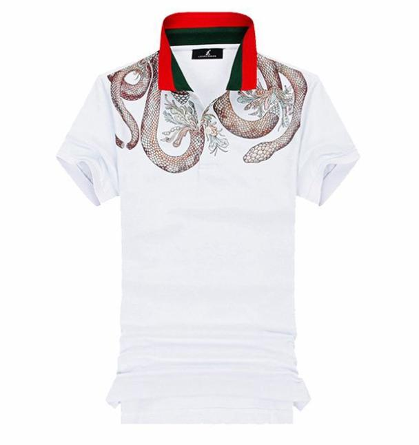 2019 new hot sale Luxury Italy Tee TShirt Designer Polo Shirts High Street  Embroidery Garter Snakes Printing Clothing Mens Brand Polo Shirt