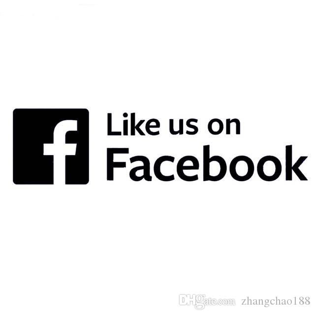 Like Us On Facebook Logo Social Web Creative Vinyl Decor For Car Laptop Ca 482