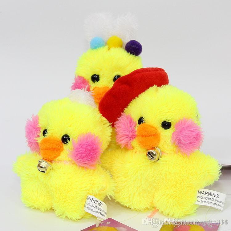 10cm Cute Yellow Duck Plush Toy Doll Novelty Funny Cartoon Animal Gift Stuffed Pendant Toys For Children Dolls & Stuffed Toys