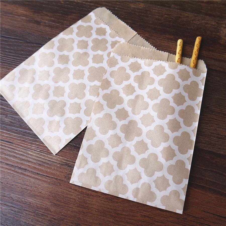15CM*10CM Craft Kraft Paper Bag for Guests Gift Flower Honeycomb Baby shower Decoration Disposable Popcorn Candy bag