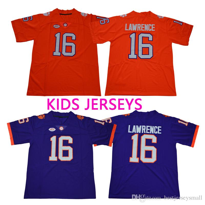 huge selection of 92df9 44209 Kids Youth Clemson Tigers New #4 DeShaun Watson 16 Trevor Lawrence 13  Hunter Renfrow 2 Kelly Bryant Orange College Stitched Football Jerseys
