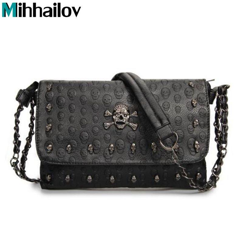 b56dd2392a Vintage Fashion Skull Women Messenger Bag Rivet Envelope Mini Clutch Bags  Envelope Crossbody Punk Shoulder Bag Sac A Main XS 185 Overnight Bags Bags  For ...