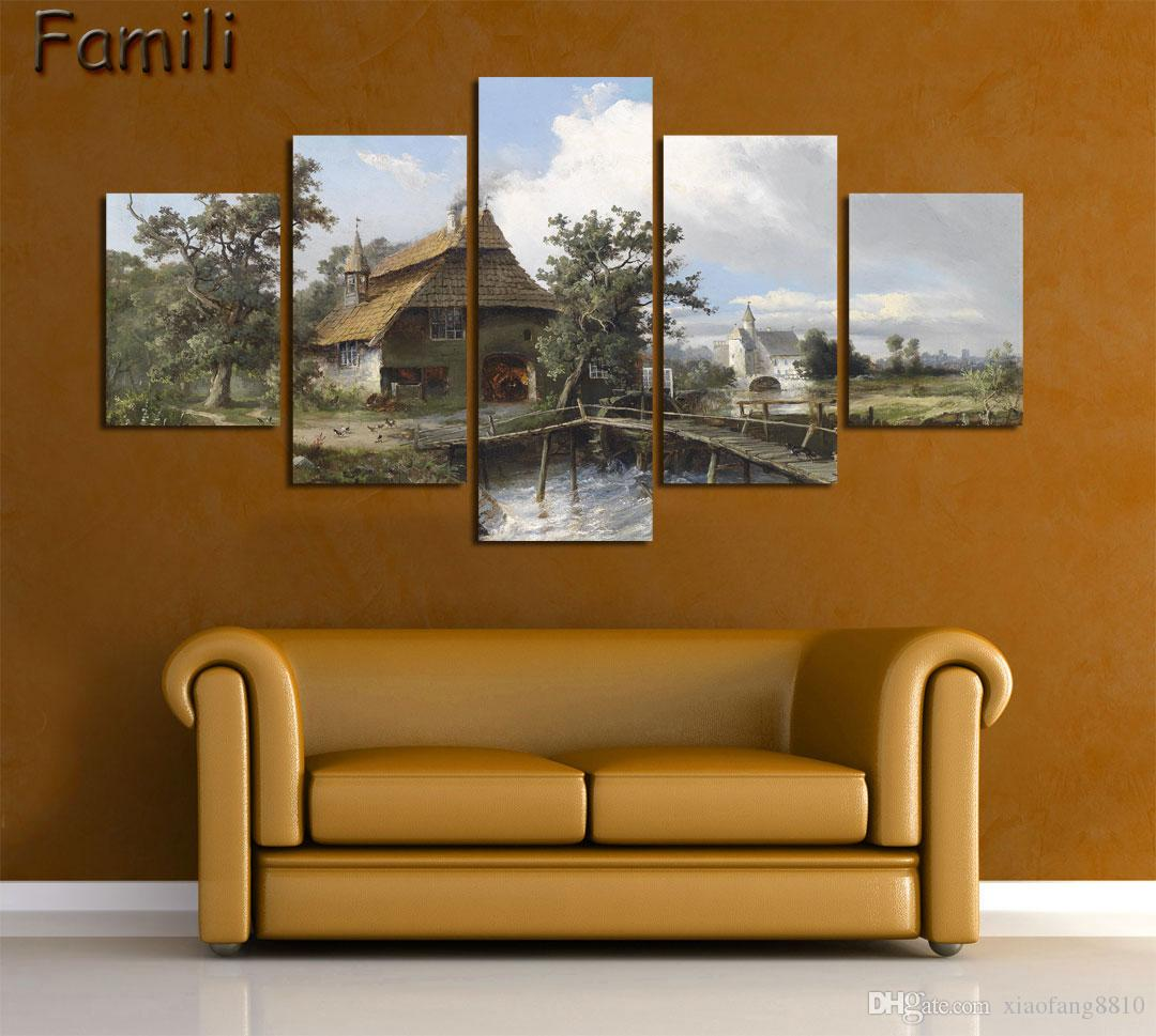 5Pieces/set Hot Modern Abstract Characters Canvas Painting Unframe Modular Pictures HD Home Cuadros Decoracion Cheap Wall Art Poster