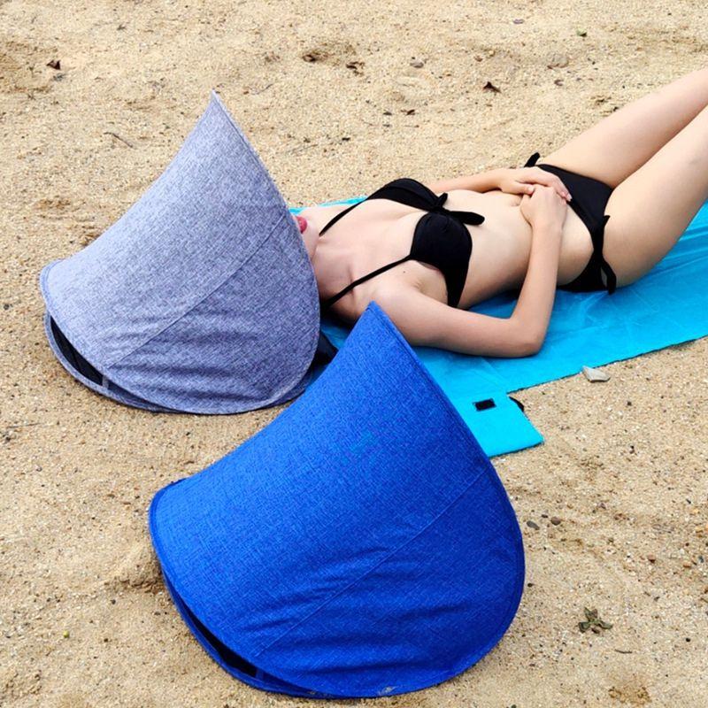 43x49x43cm Sommer Strand Gesicht Sonnenschirme Zelt Tragbare Kleine Markise Leichte Falten Uv Schutz Sonnenschutz Mit Luftkissen
