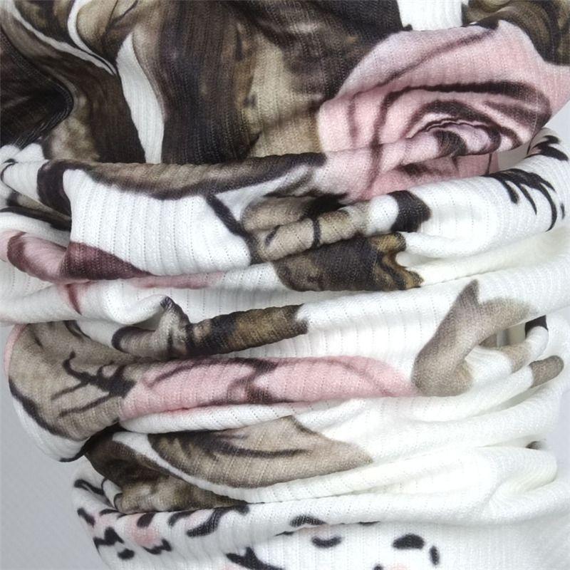 2018 Women Jacket Brand Tops Flower Print Girl Plus Size Casual baseball Sweatshirt Button Thin Bomber Long Sleeves Coat Jackets