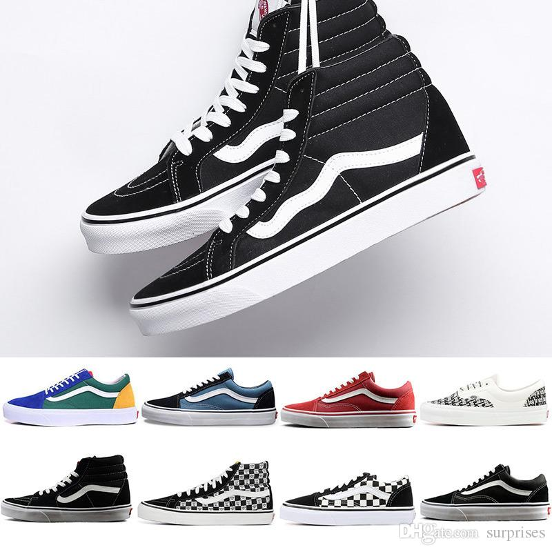 2019 Original Vans Old Skool Sk8 Hi Mens Womens Canvas Sneakers Black White  Red YACHT CLUB MARSHMALLOW Fashion Skate Casual Shoes Size 36 44 Sperry  Shoes ... 56ab8c3d12