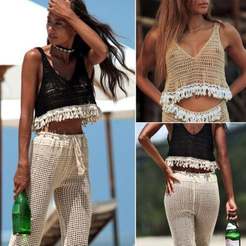 13e6006c7aa2c Summer holiday women casual crochet tank tops vest tassel blouse jpg  500x500 Bmw womens crop