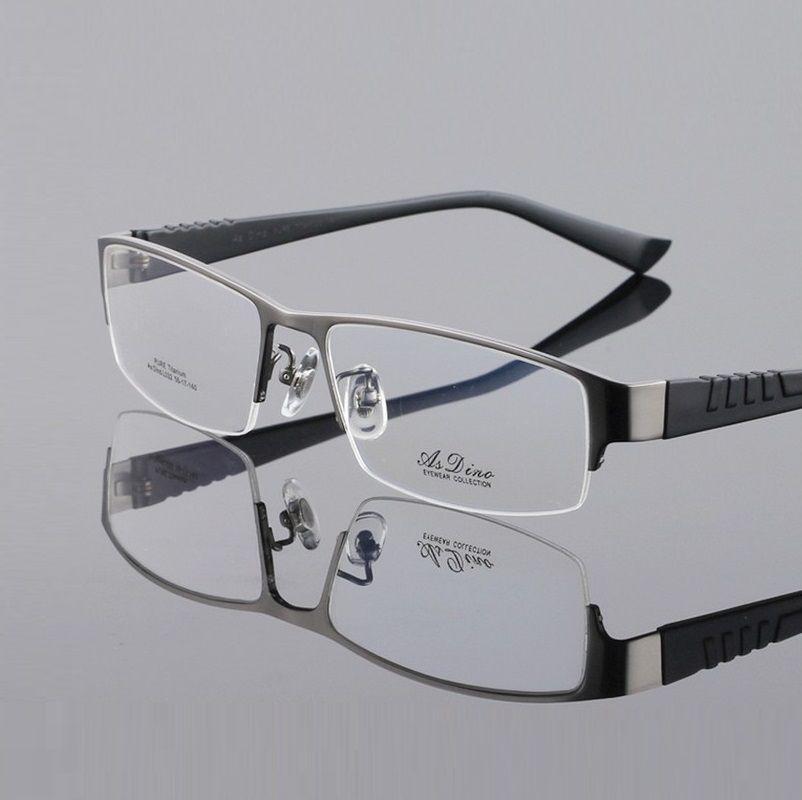 f460682edd Compre Hombres De Titanio Puro Marcos De Anteojos Para Hombre Gafas De Gafas  Ópticas Miopía Monturas Montura De Montura De Montura De Gafas Oculos A  $42.8 ...