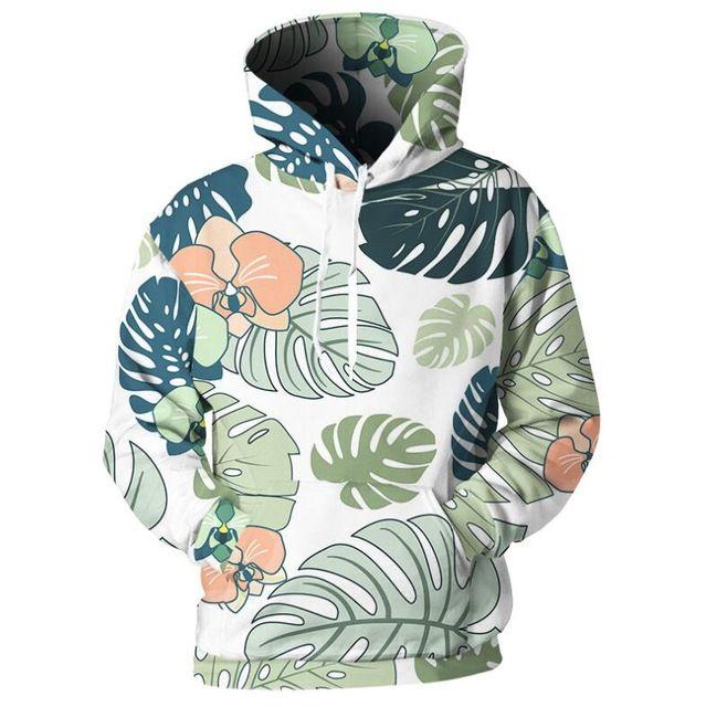 0b1377dc5 2019 New Design Cosplay Men Hoodies Big Leaf Print 3D Sweatshirt Hawaiian  Pullover Hip Hop Streetwear Funny Tracksuit Coats Drop Ship From Cd1113, ...