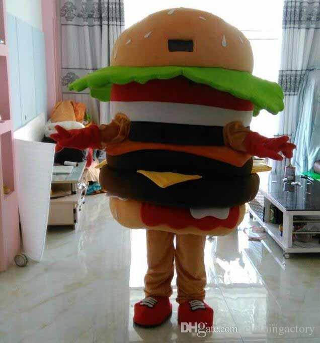 Halloween Hamburgers.Make Eva Material Hamburgers Mascot Costumes Halloween Birthday Party Cartoon Apparel Ws550