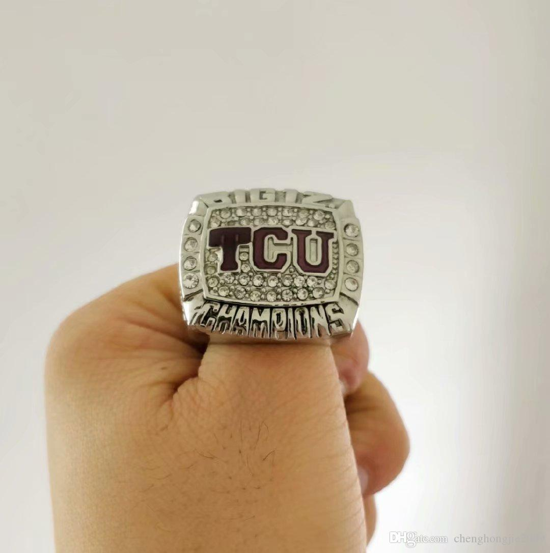 8fa3a86ff4f75e 2019 2019 Wholesale 2014 TCU Horned Frogs Big 12 Championship Ring Give  Gifts To Friends From Chenghongjie2009
