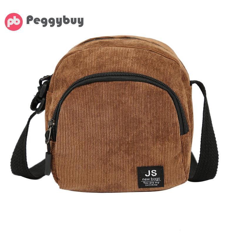 get cheap on sale best online Corduroy Shoulder Messenger Bags Women Men Small Crossbody Satchel Bags