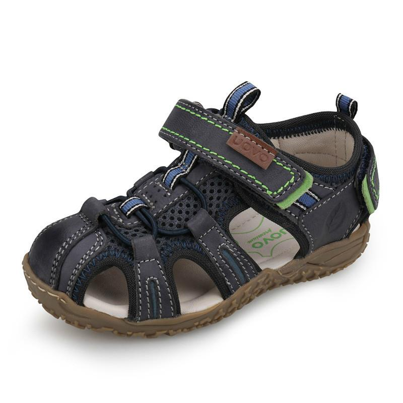 014d5cb33 New 2019 Leather Sandals Boys And Girls Summer Beach Shoes Little Children  Baotou Sport Sandals For Kids Size 25  36  Boys Shoes Online Shopping Kids  Dress ...