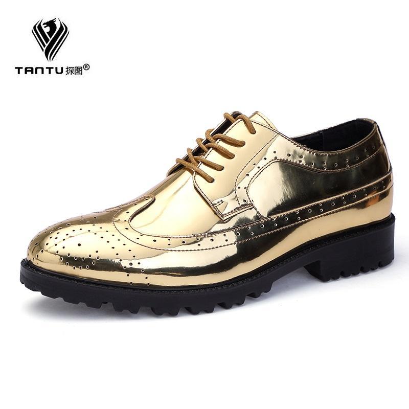 Compre TANTU Marca Hombre Primavera Y Otoño Hombre Zapatos Casuales Zapatos  De Conducción De Cuero Genuino Cuero De Los Hombres De Tacón Bajo Más  Tamaño A ... 9de1eca93f5