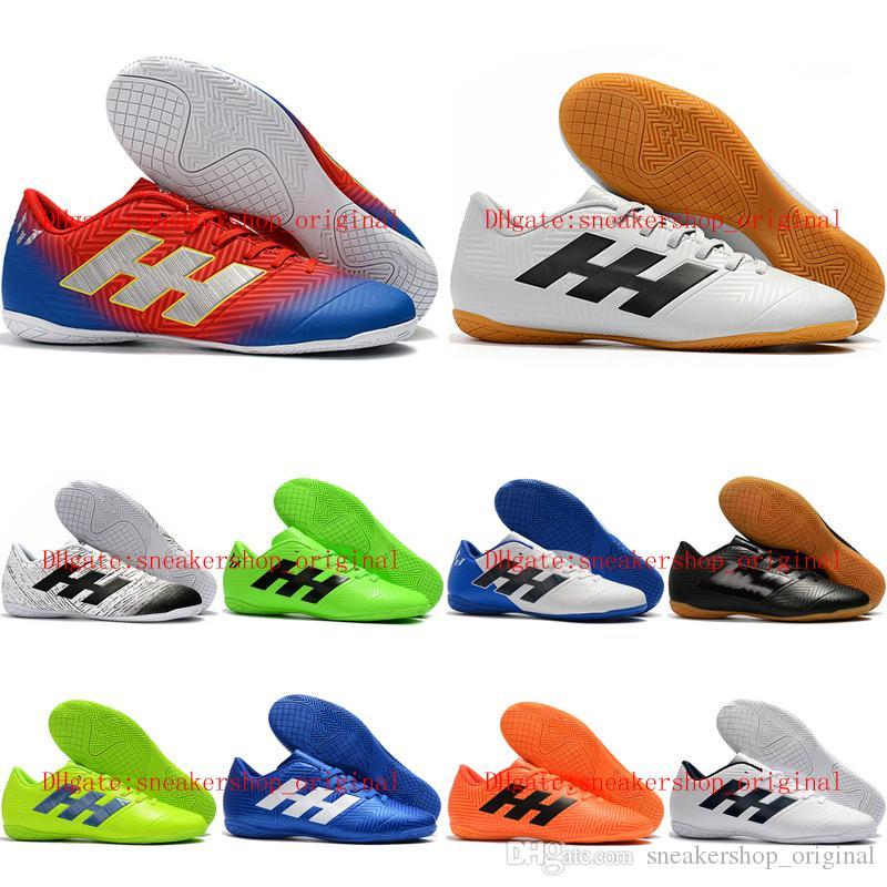27fa61fc2 2019 Mens Soccer Shoes Nemeziz Messi Tango 18.4 IC Soccer Cleats Cheap  Indoor Football Boots Botas De Futbol Top Quality Running Shoes For Kids  Boys ...