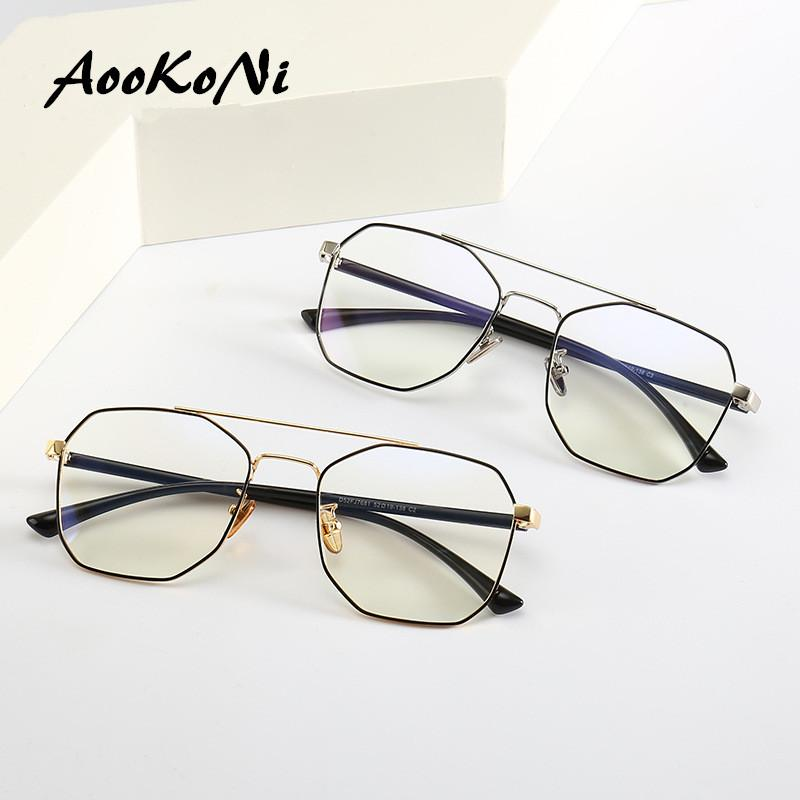 4e5ff3b6541 2019 Metal Alloy Glasses Frame Men Ultra Light Full Polygon Myopia  Prescription Eyeglasses 2019 Fashion Women Optical Frame Eyewear From  Taihangshan