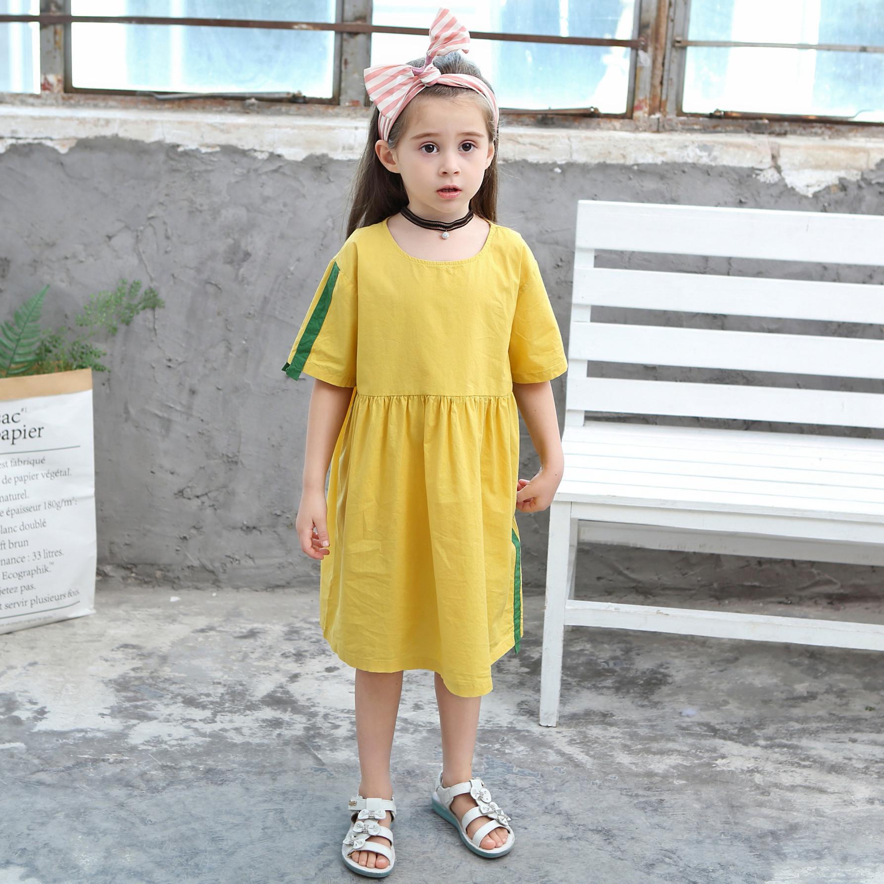 07f392e8be667 Summer Girl Dress Kids Children Dress Girls Long Sleeve Plaid Dress Soft  Cotton Summer Princess Dresses Baby Girls Clothes 2-11T