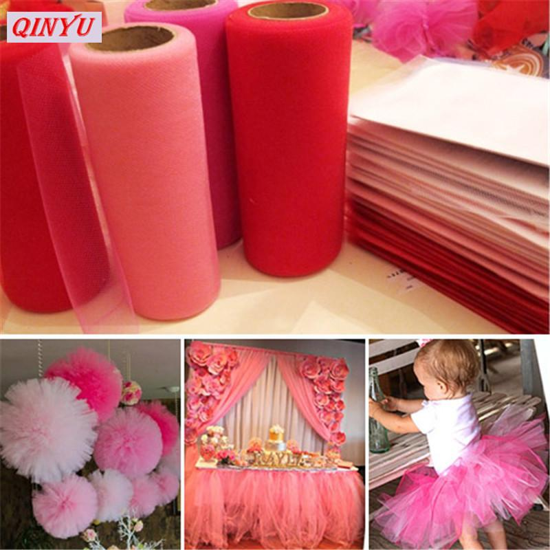 81bd7786c 5M*48CM Crystal Tulle Roll Organza Sheer Gauze DIY Tutu Girls Skirt Gift  Wedding Party Decor Baby Shower Decor Supply 8ZSH015 Themed Party  Decorations ...