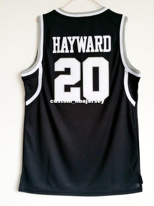 6380570ebb79 2019 Cheap Wholesale Gordon Hayward 20 Butler College Sewn Basketball Black  Jersey Customize Any Name Number MEN WOMEN YOUTH Basketball Jersey From ...