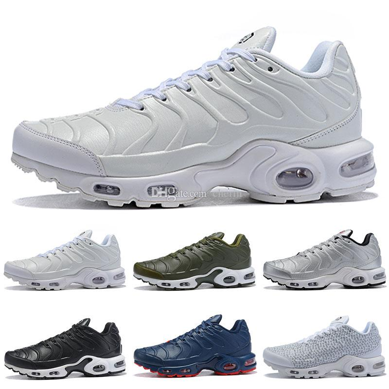 new concept b02ac 4ecc6 2018 New TN Plus WOMEN Men Casual Shoes Tns Nanotechnology KPU Material  Classical Durable Mens Trainers Zapatos Sports Sneakers Size 5.5-12