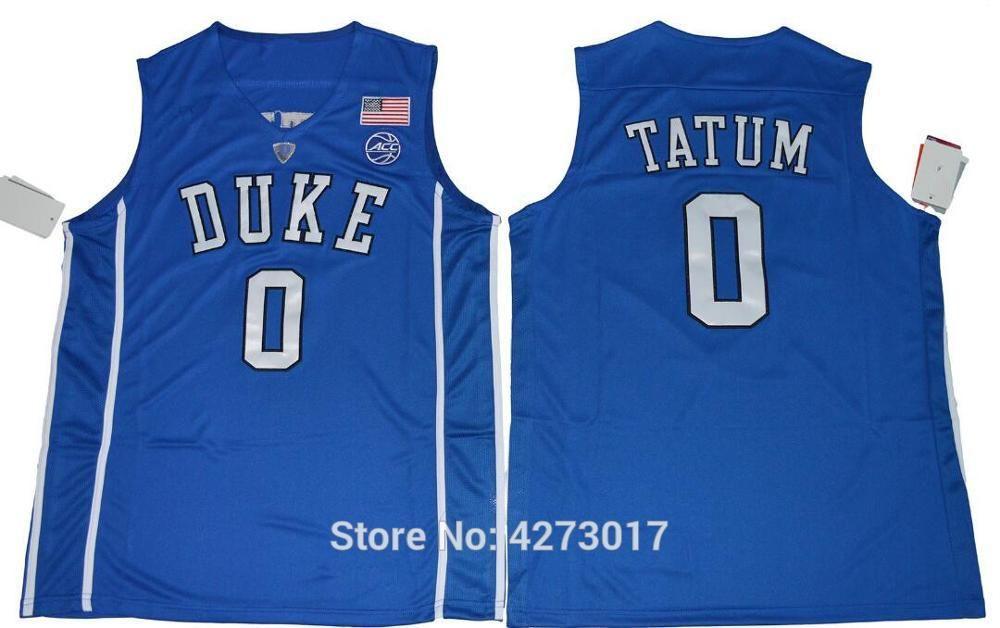 new style 3f5f0 33cda Mens Duke Blue Devils 0 Jayson Tatum Jersey Men Black Blue White Basketball  Tatum College Jerseys Sports Uniform Stitched Ncaa