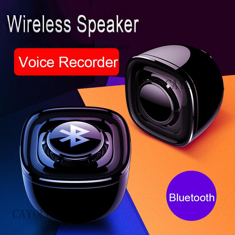 Awesome Bluethooth Wireless Speaker Voice Audio Recorder Portable HD Audio Sound Recording Music Player