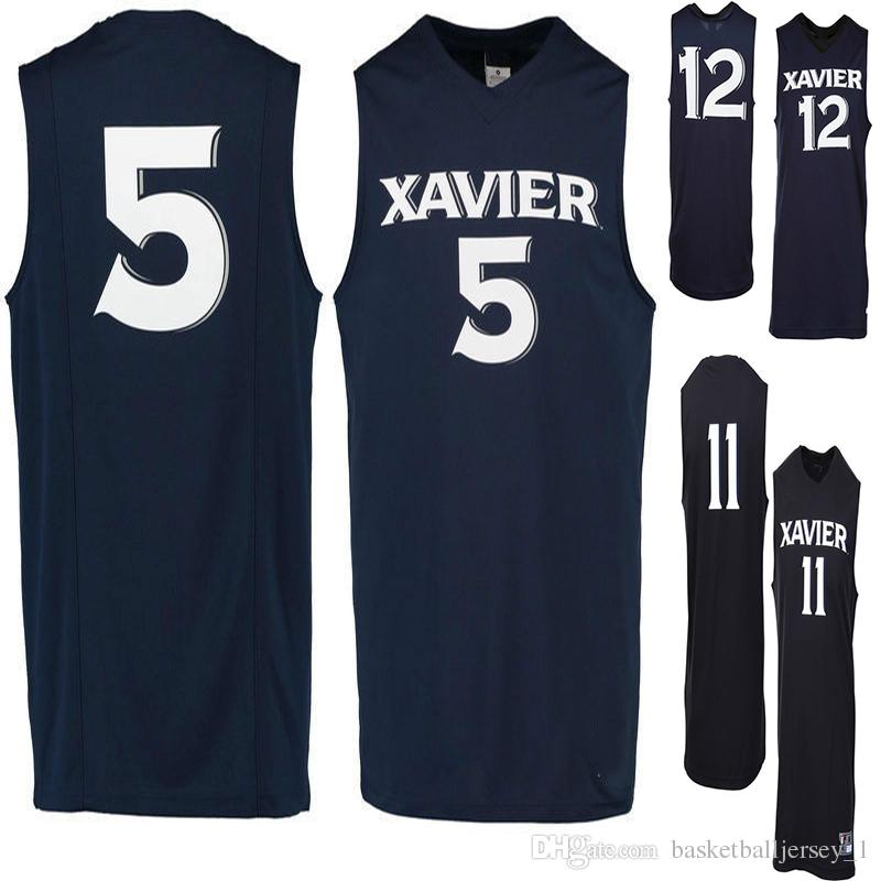 new style e3660 0ecd7 NO. 11 Xavier Musketeers Men College Basketball Jersey Embroidery Athletic  Outdoor Apparel Mens Sport Jerseys Size S-3XL