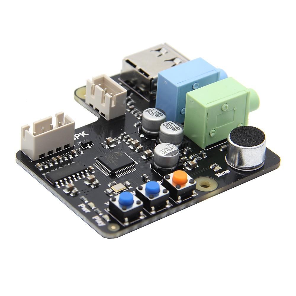 Freeshipping Raspberry Pi X350 Microphone Input / Audio Input & Output USB  Audio Card For PC/Raspberry Pi 3 Model B+(plus)/3B/2B/B+