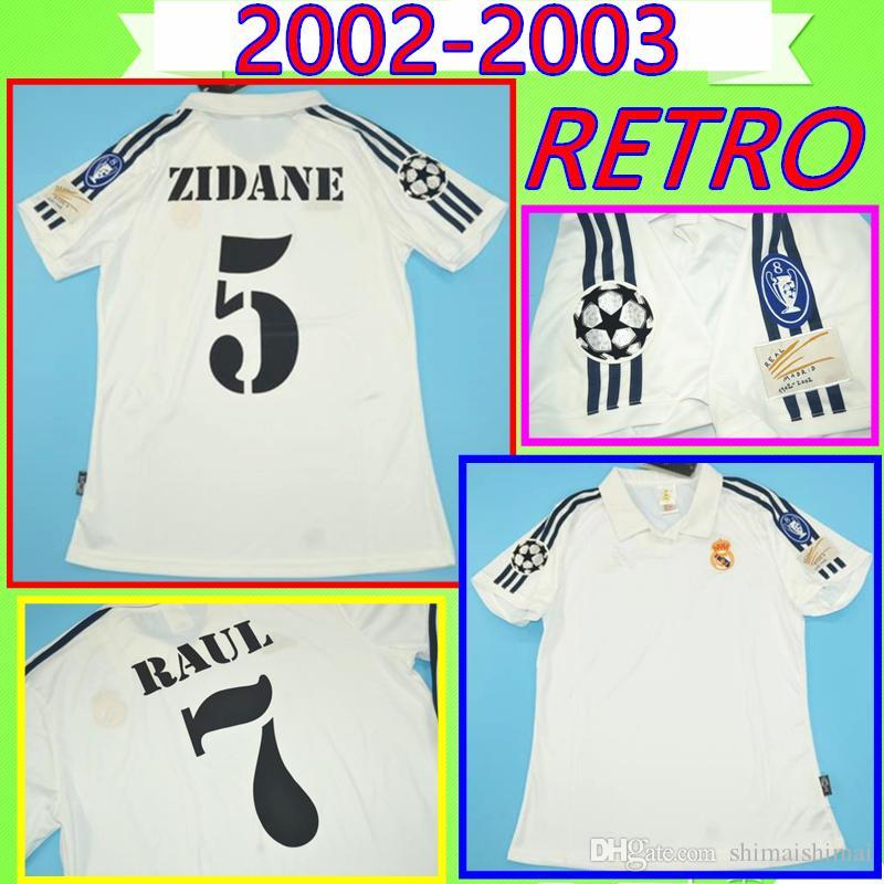 Camiseta Retro Zidane Real Madrid 2002 UCL Final