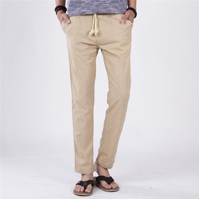 c1d70ef51 Pantalones de hombre Pantalones largos y cómodos de verano Pantalones  cómodos para correr Pantalones deportivos pantalones de chándal 2019 # 4M07