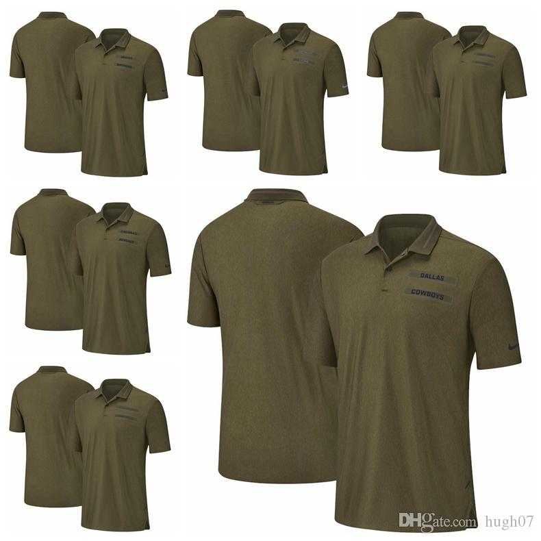 2019 Cincinnati Bengals Cleveland Browns Green Bay Packers Salute To  Service Dallas Cowboys Denver Broncos Detroit Lions Sideline Polo From  Hugh07 90423e224