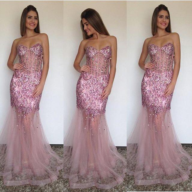 Sheath Sweetheart Evening Dress 2019 Sweetheart Beaded Sequins Formal Evening Gowns Prom Evening Dress Custom Made