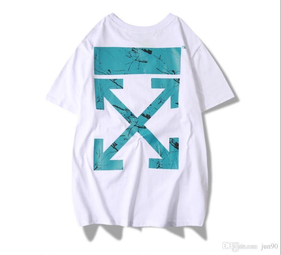9795ebf0 GyEuropean And American Street Fashion Off Trend 2019 Weathering Circuit  Cross Arrow Men And Women Couple Short Sleeved T Shirt T Shirts Online White  Shirt ...